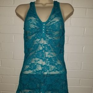 Blue lace tank size medium by color story